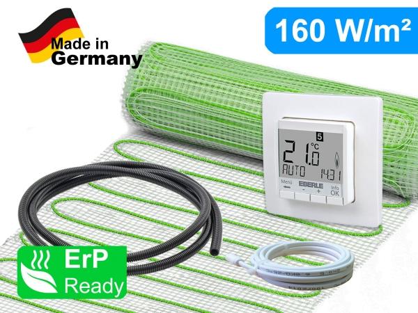Thermostat Thermostat Eberle FIT 3F mit elektrischer Heizmatte UltraPro für Fliesen 160 W/m²
