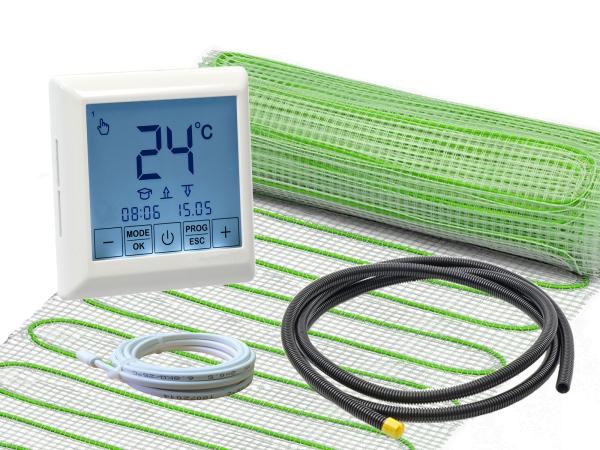 Thermostat RT-40 mit elektrischer Heizmatte UltraPro für Fliesen 160 W/m²