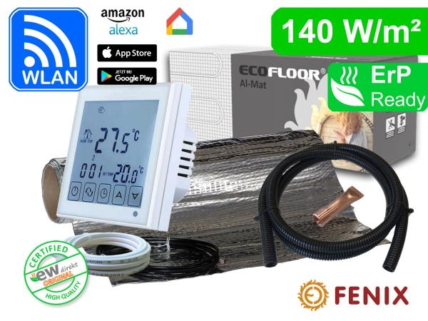 Thermostat RT-60 Wlan mit FENIX AL-MAT 140 W/m² für Laminat / Klickvinyl