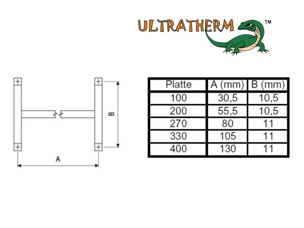 Montagerahmen für ULTRATHERM Strahlungsheizplatten