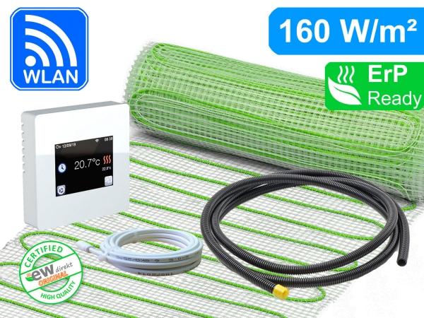 Thermostat Fenix TFT - WIFI mit elektrischer Heizmatte UltraPro für Fliesen 160 W/m²