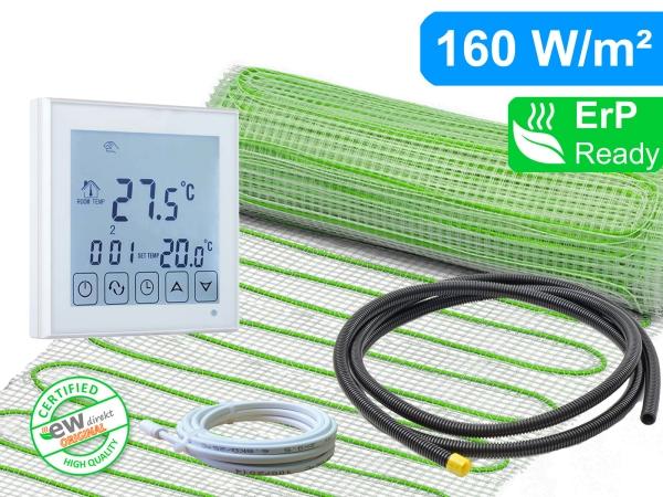Thermostat RT-45 mit elektrischer Heizmatte UltraPro für Fliesen 160 W/m²