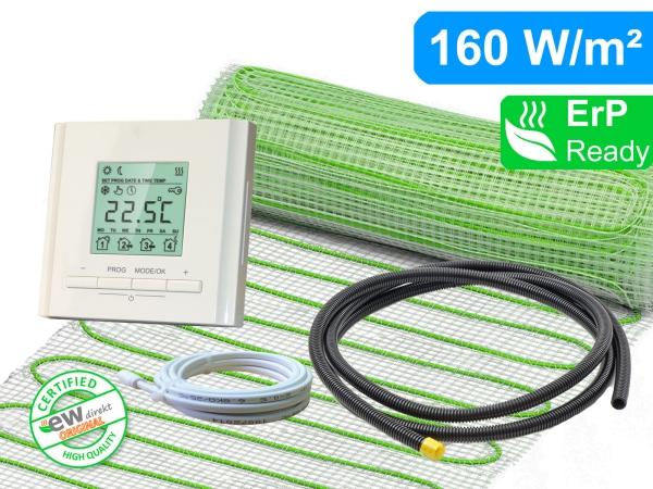 Thermostat RT-30 mit elektrischer Heizmatte UltraPro für Fliesen 160 W/m²