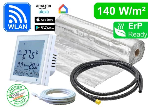 Thermostat RT-60 WLAN mit AluPro 140 W/m² für Laminat / Klickvinyl