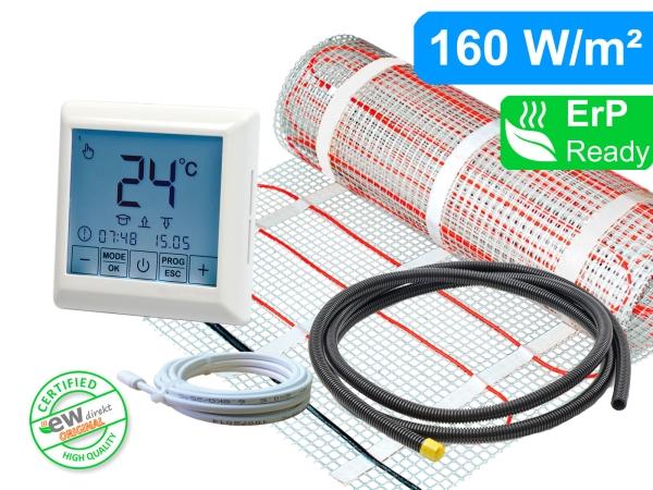 Thermostat RT-40 mit elektrischer Heizmatte für Fliesen 160 W/m² Basic