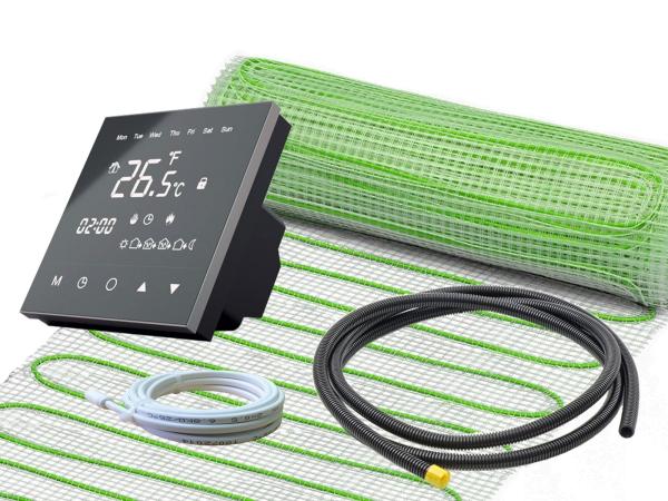 Thermostat RT-50 mit elektrischer Heizmatte UltraPro für Fliesen 160 W/m²
